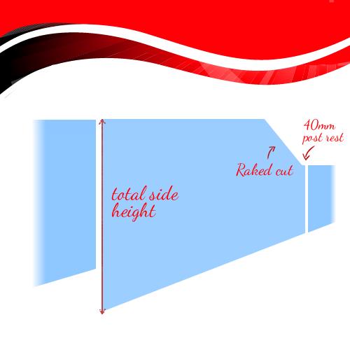 Raked Semi Frameless Glass Panels Sorrento Glass Fencing