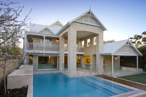 Frameless glass pool fencing, Frameless glass pool fencing complements beautiful pool