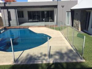 Floreat - semi-frameless and face fixed frameless also front balustrading