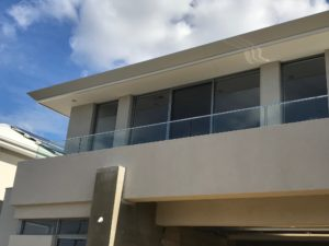 , Face Fixed Glass Balustrade for Low Balcony Wall